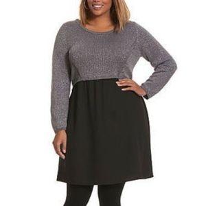 Lane Bryant Metallic Sweater Dress 22 24 ⭐️